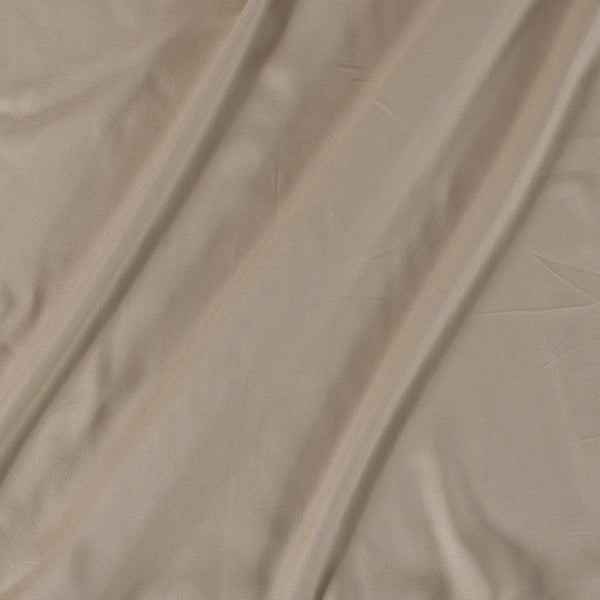 Rayon Beige Colour 43 inches Width Plain Dyed Fabric