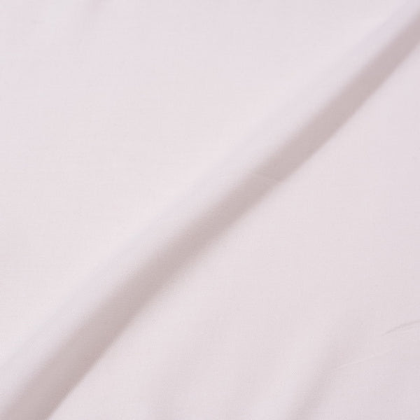 Off White Colour Plain Dyed Rayon Fabric