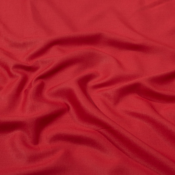 Red Orange Colour Plain Dyed Rayon Fabric