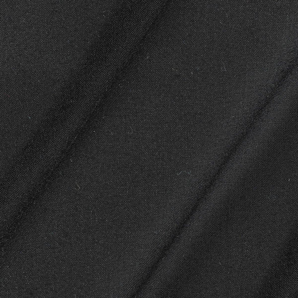 Rayon Black Colour 43 inches Width Plain Dyed Fabric
