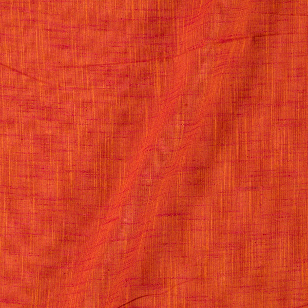 Slub Cotton Saffron Orange Colour 45 inches Width Fabric
