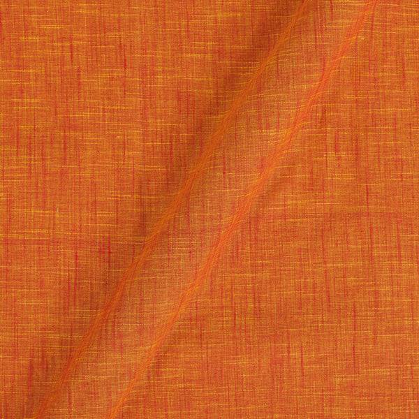 Slub Cotton Orange To Red Mix Tone Colour Fabric