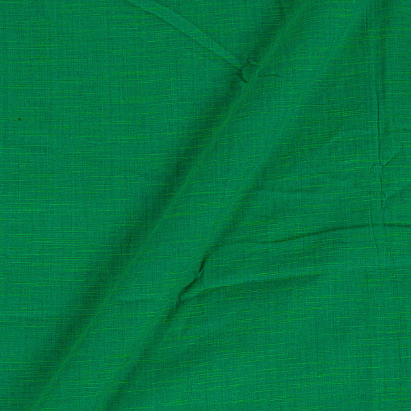 Slub Cotton Leaf Green Colour 43 Inches Width Fabric