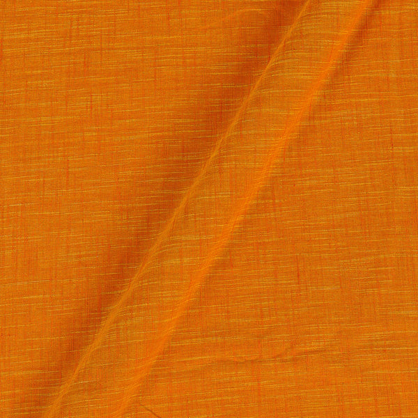 Slub Cotton Fanta Orange Colour 43 inches Width Fabric