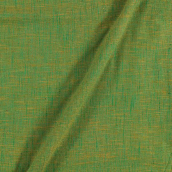 Slub Cotton Yellow To Green Mix Tone Colour 43 inches Width Fabric