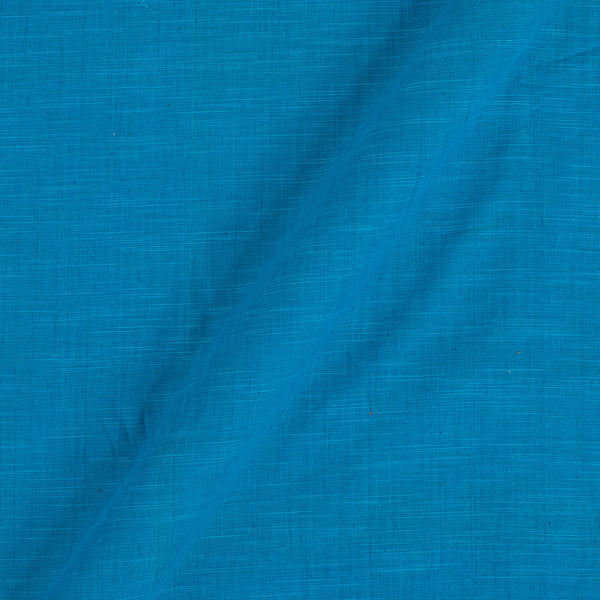 Azure Colour Plain Dyed Slub Cotton Fabric