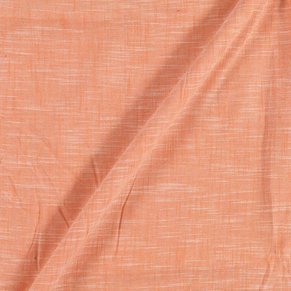 Slub Cotton Peach Colour 43 inches Width Fabric
