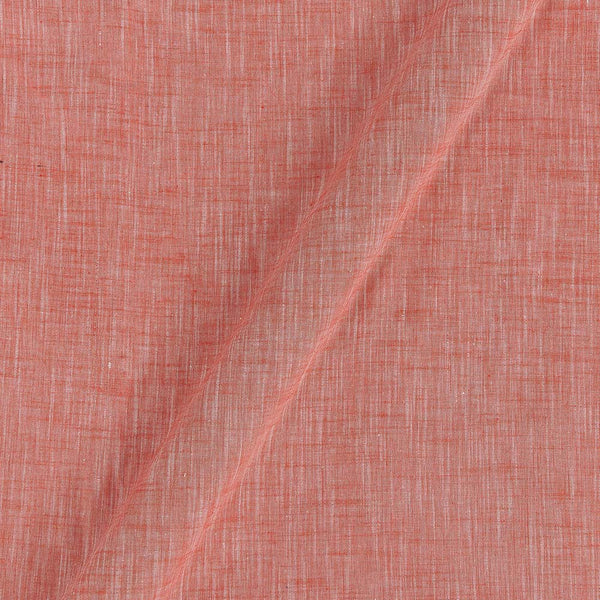 Slub Cotton Orange Colour 43 Inches Width Fabric