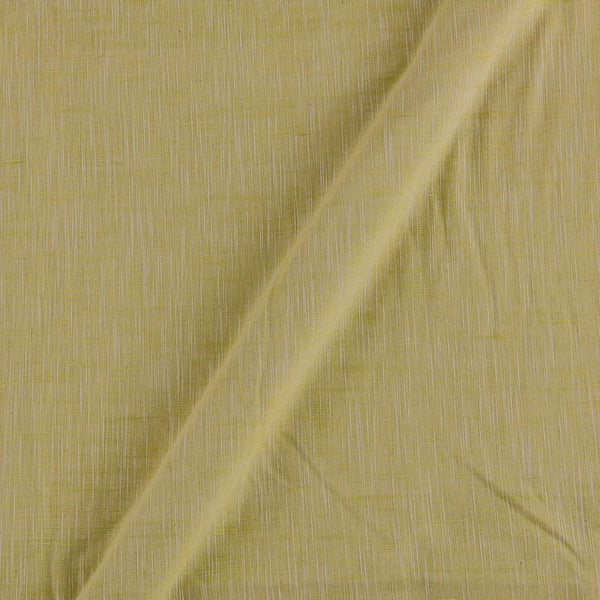 Slub Cotton Acid Green Colour 43 Inches Width Fabric