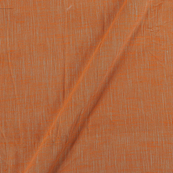 Slub Cotton Tangerine Orange To Beige Two Tone 42 Inches Width Fabric