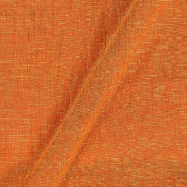 Slub Cotton Orange Yellow Colour 43 Inches Width Fabric