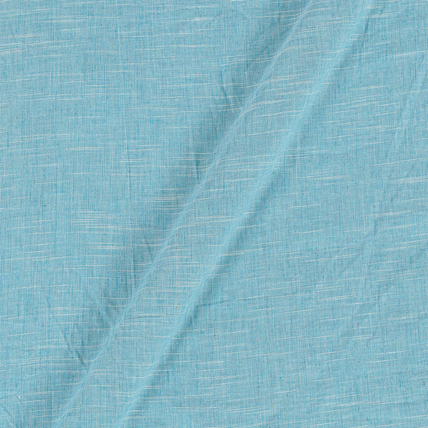 Slub Cotton Aqua Sky Colour 43 Inches Width Fabric
