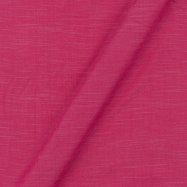 Slub Cotton Dark Pink Colour 43 Inches Width Fabric