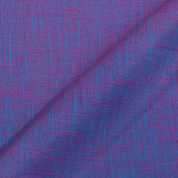 Slub Cotton Sky Blue To Pink Two Tone 42 inches Width Fabric