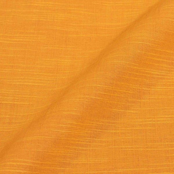 Slub Cotton Golden Yellow Colour 43 Inches Width Fabric