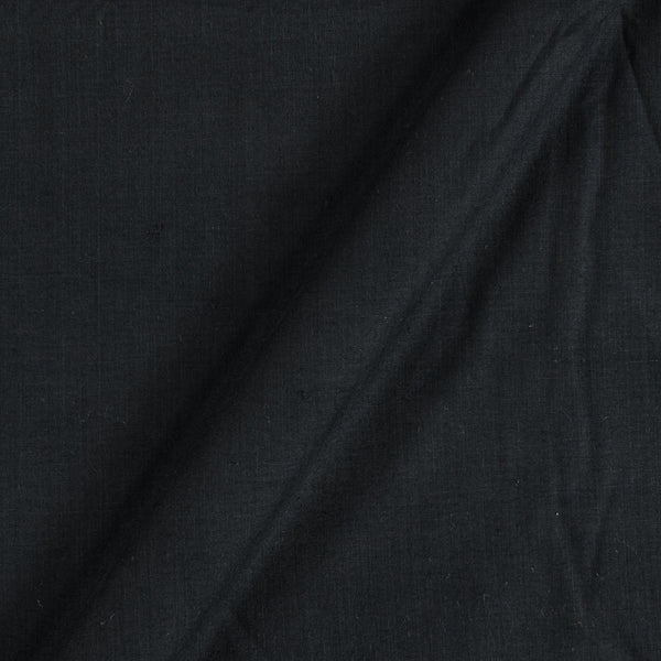 South Cotton Black Colour Washed Dyed 43 Inches Width Fabric