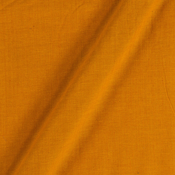 South Cotton Mustard Orange Colour Washed Dyed 43 Inches Width Fabric