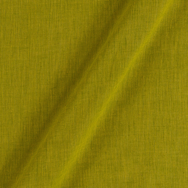 South Cotton Dyed Washed Lime Green Colour 43 Inches Width  Fabric