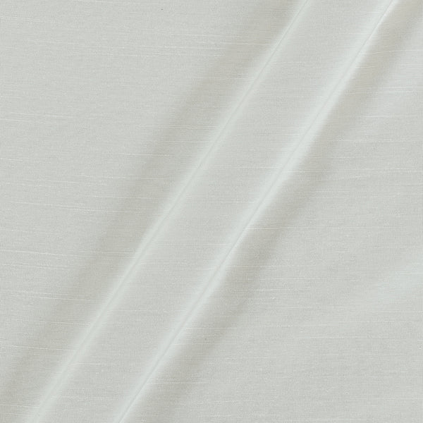 Spun Dupion (Artificial Raw Silk) Pearl White Colour 43 Inches Width Fabric