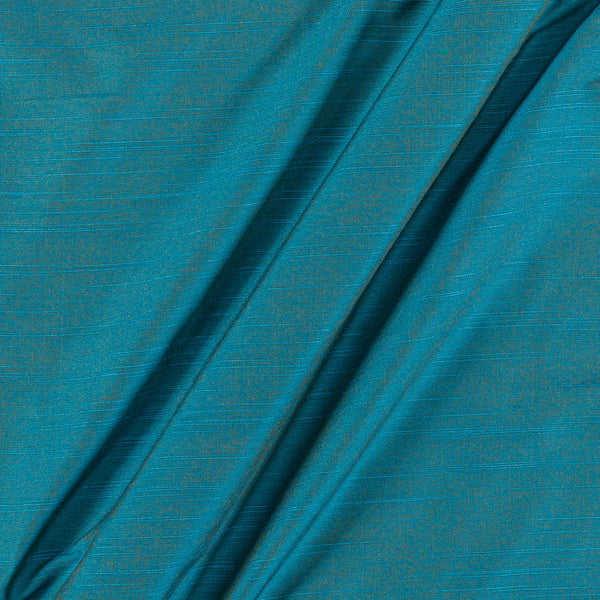 Spun Dupion (Artificial Raw Silk) Blue Two Tone 43 inches Width Fabric