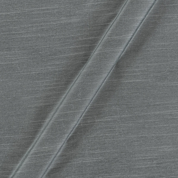 Spun Dupion (Artificial Raw Silk) Silver Grey Colour 43 Inches Width Fabric