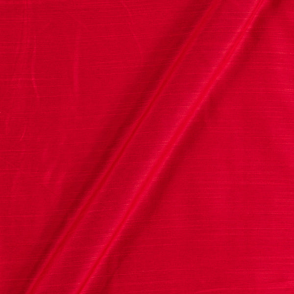 Spun Dupion (Artificial Raw Silk) Mars Red Colour 43 inches Width Fabric