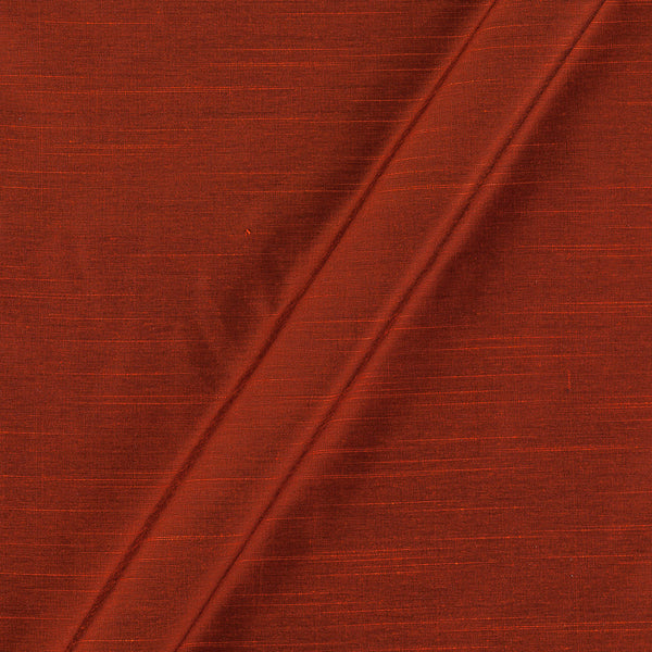Spun Dupion (Artificial Raw Silk) Rust Orange Colour 43 Inches Width Fabric