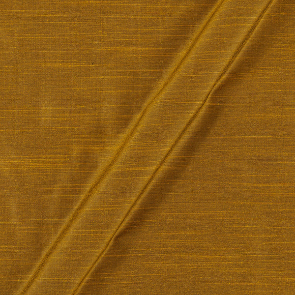 Spun Dupion (Artificial Raw Silk) Bronze Gold Colour 43 inches Width Fabric