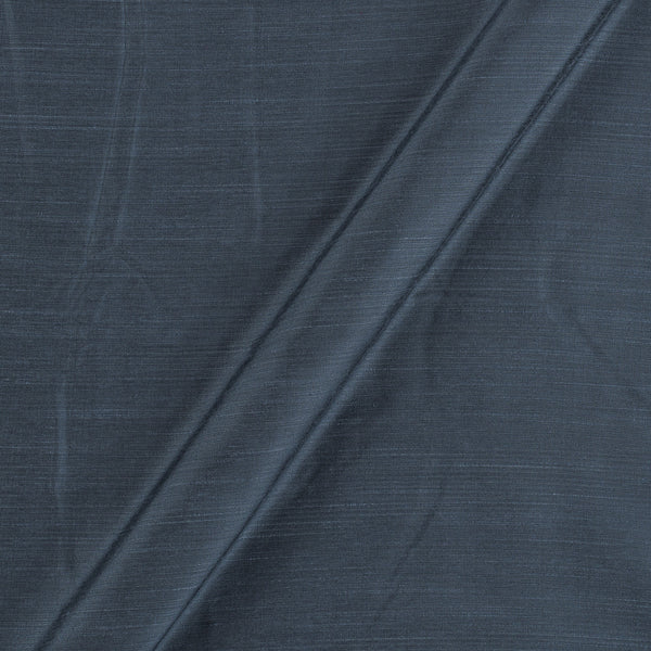 Spun Dupion (Artificial Raw Silk) Slate Grey Colour 43 inches Width Fabric