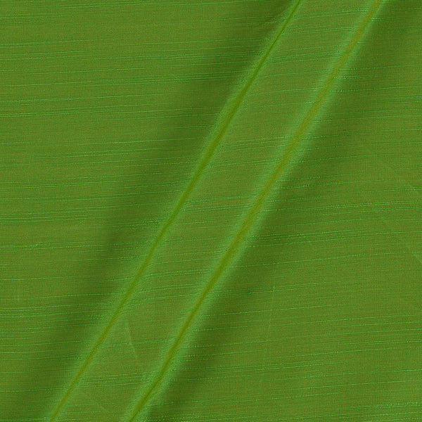 Spun Dupion (Artificial Raw Silk)  Green To Mustard Two Tone 41 inches Width Fabric