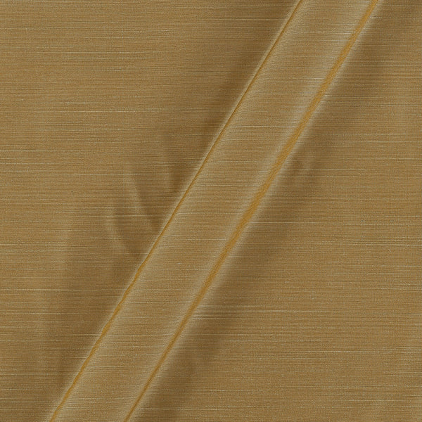 Spun Dupion (Artificial Raw Silk)  Beige Colour 42 inches Width Fabric