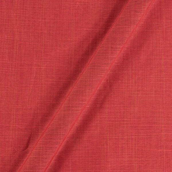 Spun Dupion (Artificial Raw Silk) Carrot 43 Inches Width Fabric