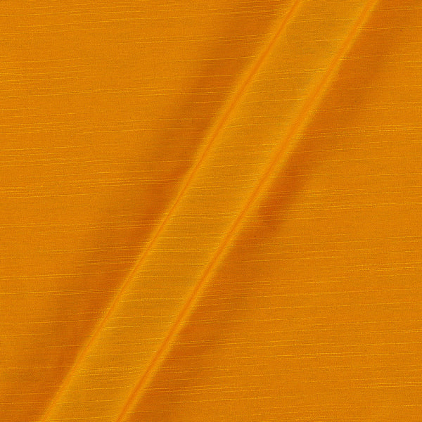 Spun Dupion (Artificial Raw Silk) Golden Orange Colour 42 inches Width Fabric