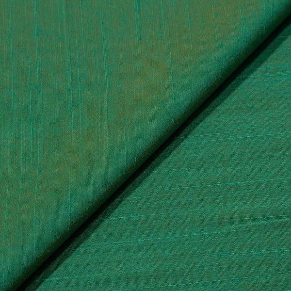 Spun Dupion (Artificial Raw Silk) Green Two Tone Fabric