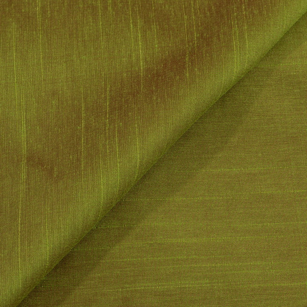 Acid Green To Red Two Tone Spun Dupion (Artificial Raw Silk) Fabric