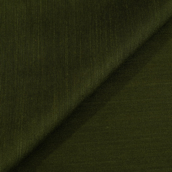 Army Green Colour Spun Dupion (Artificial Raw Silk) Fabric
