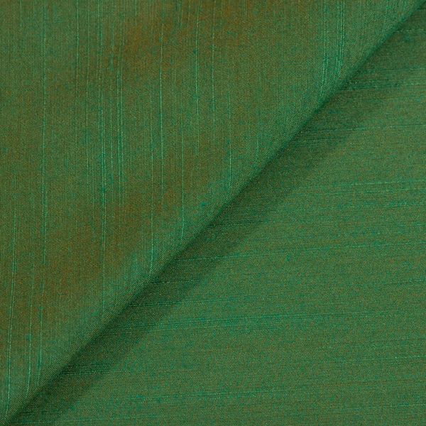 Green To Orange Two Tone Spun Dupion (Artificial Raw Silk) Fabric