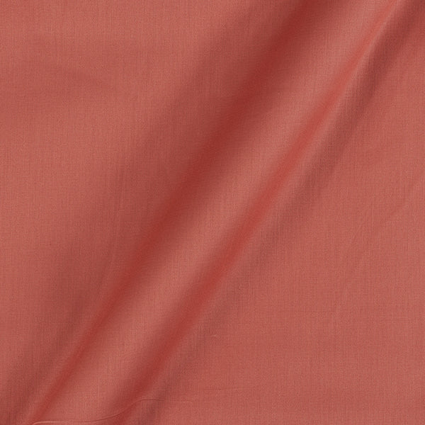 Cotton Satin Carrot Orange Colour 42 inches Width Dyed Fabric