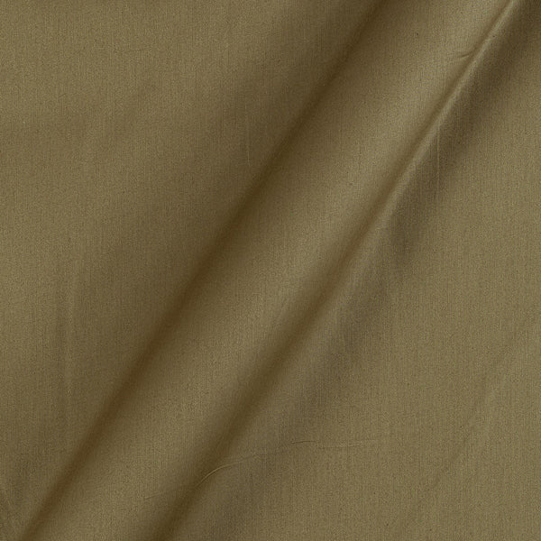 Cotton Satin Dark Olive Colour 42 Inches Width Plain Dyed Fabric