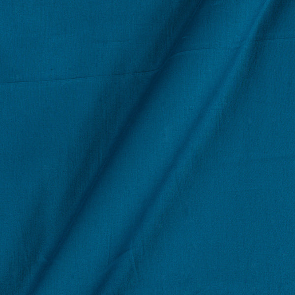 Cotton Satin Sea Blue  Colour 42 Inches Width Plain Dyed Fabric