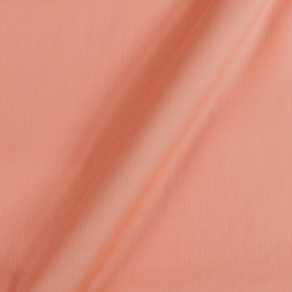 Cotton Satin Peach Colour 42 Inches Width Plain Dyed Fabric