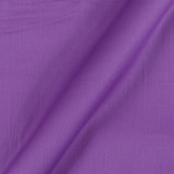 Cotton Satin Lavender Colour 42 Inches Width Plain Dyed Fabric