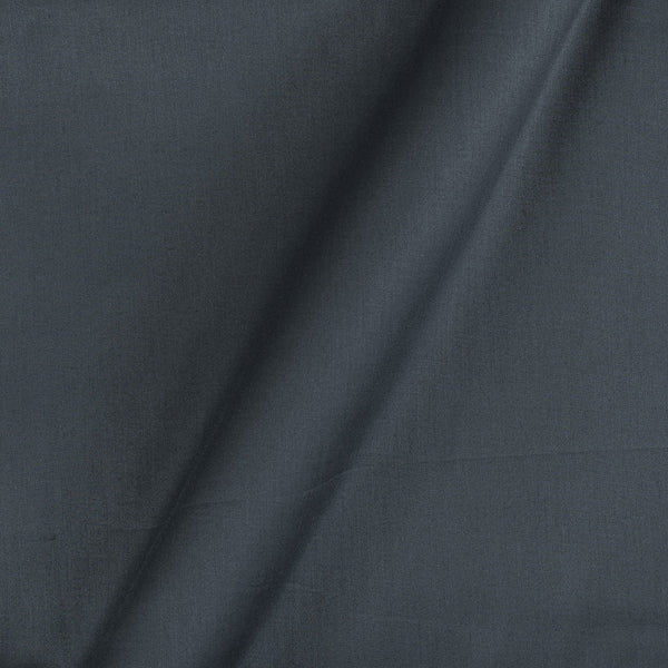 Cotton Satin Steel Grey  Colour 42 Inches Width Plain Dyed Fabric