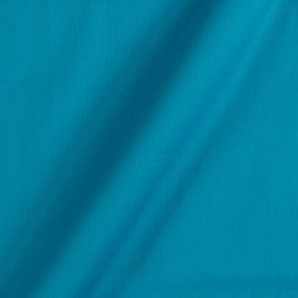 Cotton Satin Sky Blue Colour 42 Inches Width Plain Dyed Fabric