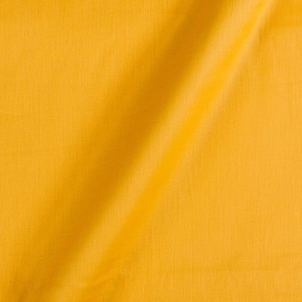 Cotton Satin Bright Yellow Colour 42 Inches Width Plain Dyed Fabric