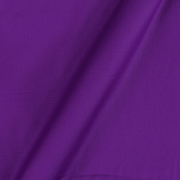 Cotton Satin Violet Colour 42 Inches Width Plain Dyed Fabric