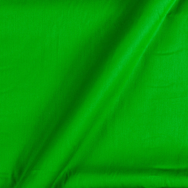 Cotton Satin Parrot Green Colour 42 Inches Width Plain Dyed Fabric