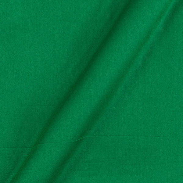 Cotton Satin Emerald Colour 42 Inches Width Plain Dyed Fabric