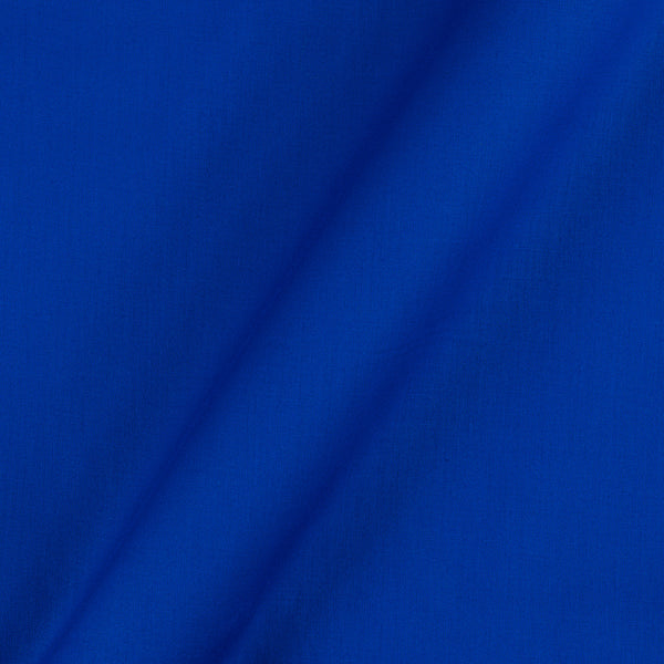 Cotton Satin Royal Blue Colour 42 Inches Width Plain Dyed Fabric