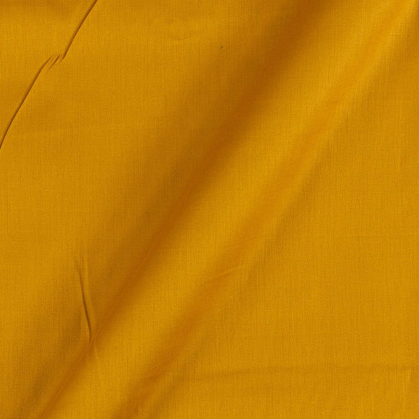 Cotton Satin Mustard Colour 42 Inches Width Plain Dyed Fabric